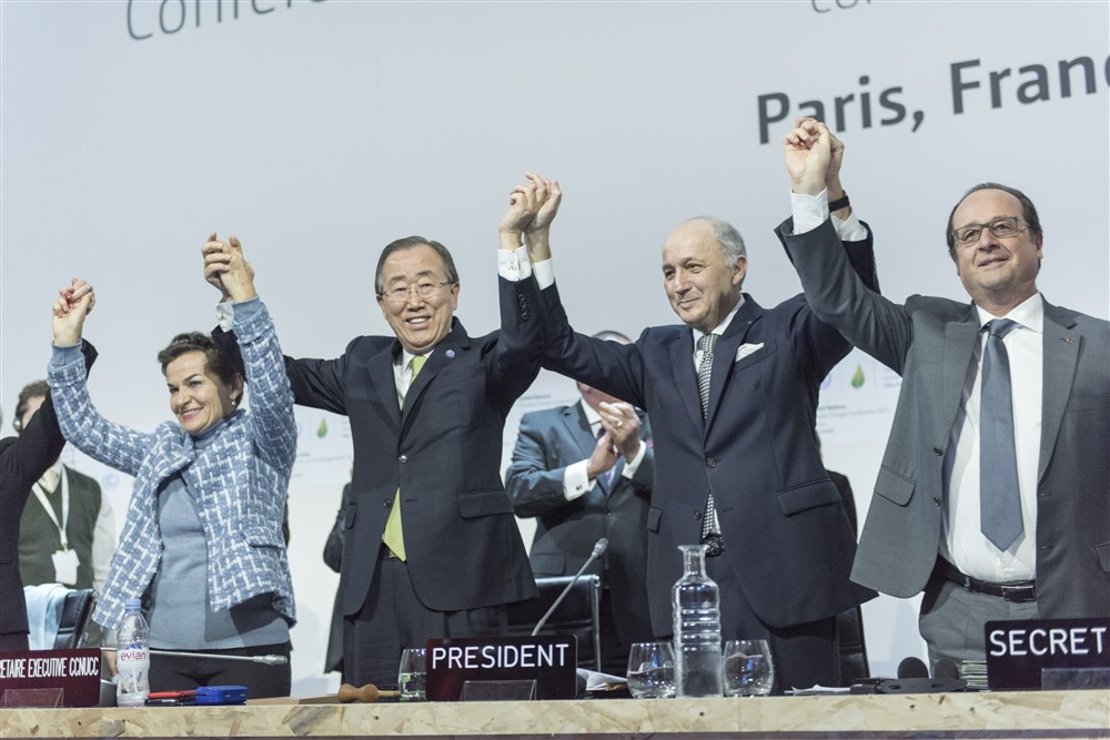 Closing Ceremony of COP21, Paris. UN Photo/Mark Garten