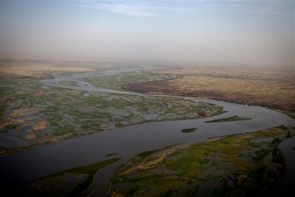 Aerial view of the Niger river around Gao, North of Mali. Photo MINUSMA/Marco Dormino
