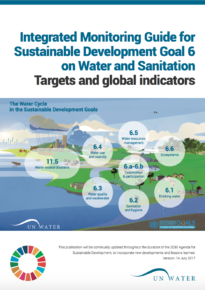 Integrated Monitoring Guide for Sustainable Development Goal 6 on Water and Sanitation – Targets and global indicators – AR, EN, FR, RU, SP, ZH
