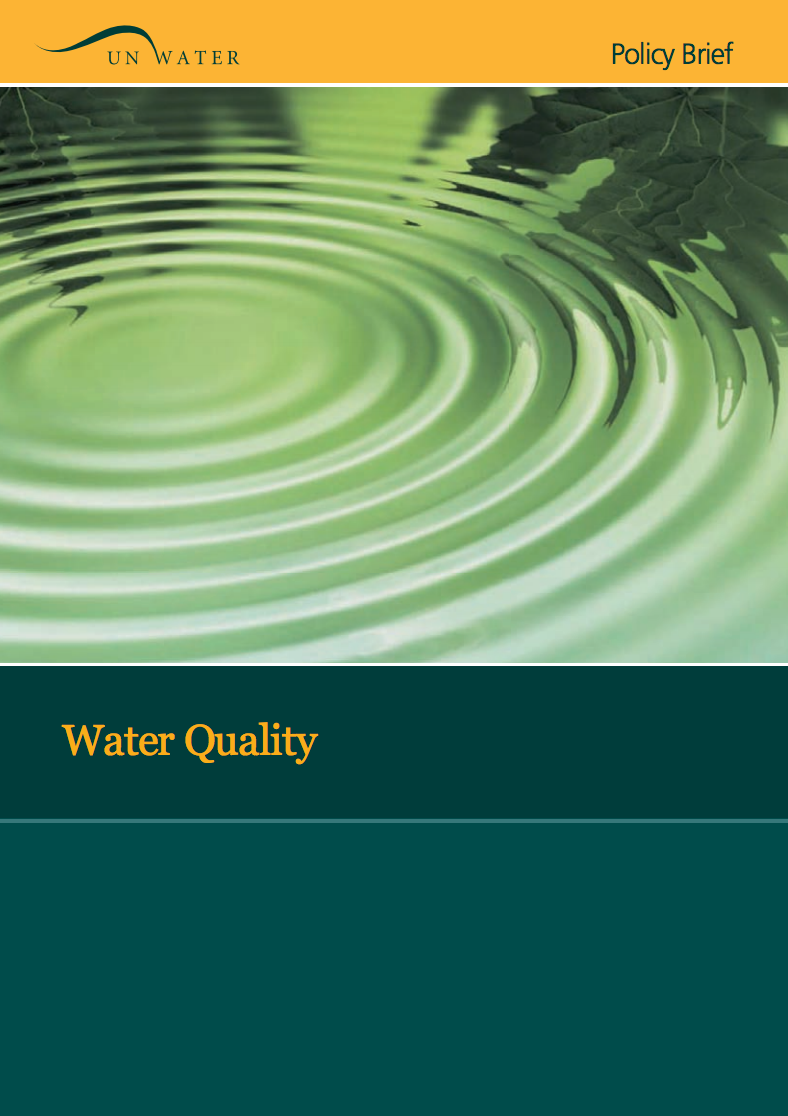 UN-Water Policy Brief: Water Quality